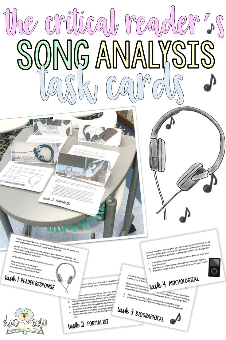 I created this lesson as way for students to explore the similarities between song lyrics and traditional poetic forms. Students will be engaged in a detailed analysis of the lyrics of their favorite song with the goal for them to inductively conclude that lyrics are, in fact, poetic. Plus, they will be motivated (because they love music) to practice poetic analysis. This is a great introduction to poetry or a standalone critical thinking activity.