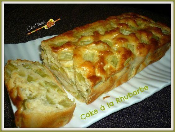 Cake à la rhubarbe