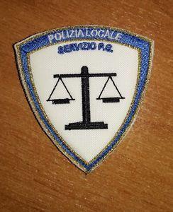 Patch Polizia Locale Servizio P.G. Bianco Azzurro Rigo Oro  Doppio Velcro NUOVO | eBay
