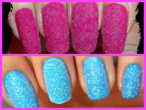de roze nagels zijn met een plakker gedaan. de onderste zijn met een mooie kleur gedaan. mooi voor in de zomer