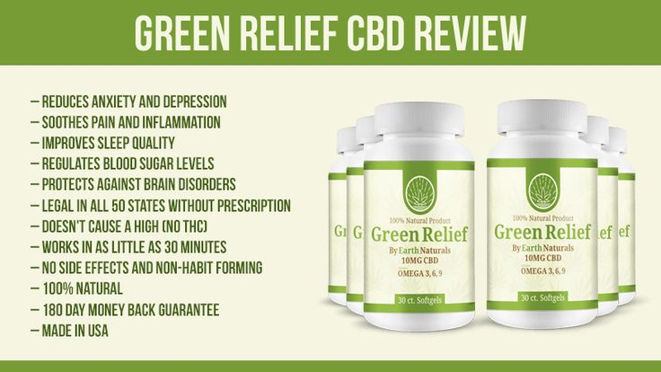 Green Relief CBD Review: How to Legally Reduce Pain, Anxiety and Depression