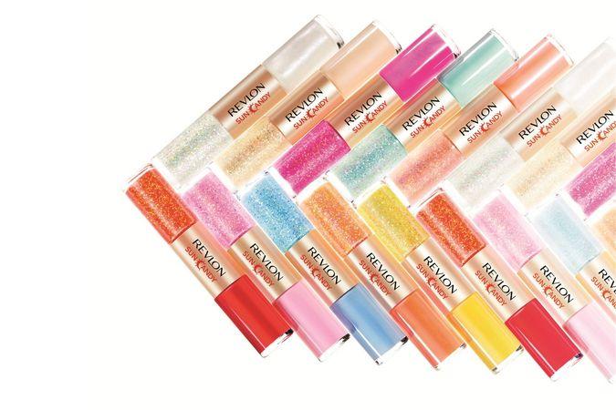 REVLON キャンディカラー&虹色グリッターをセットに、「レブロン ネイル アート サン キャンディ」新登場 | ニュース - ファッションプレス