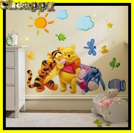 Winnie de poo 3D Stickers, Disney, Kinderkamer wand of raam - Cheappy