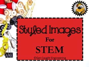 STEM Styled ImagesThis eye-catching set of 16 styled images focuses on materials used in STEM activities. These colorful images are ready-to-use. They are designed for use in blog posts, as product covers, in PowerPoint presentations, on web sites, or on social media platforms like Facebook, Instagram, or Pinterest.