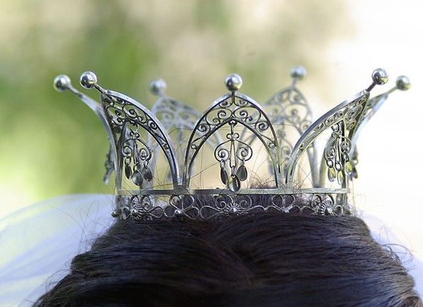Silver filigree crown belonging to Granhult church, Sweden.