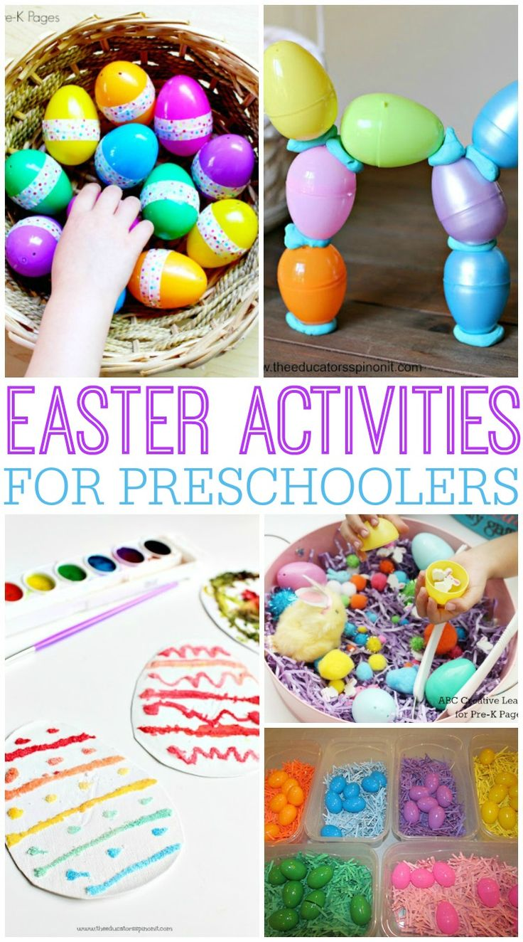 Easter activities for preschoolers! A fun roundup of arts, crafts and sensory activities perfect for preschoolers this spring!