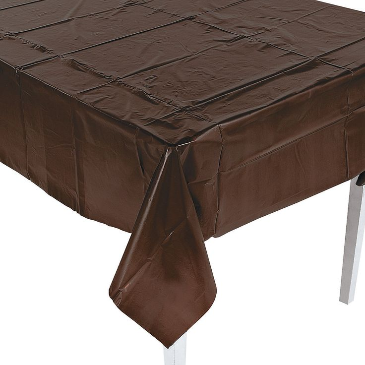Chocolate Brown Party Tablecloth   OrientalTrading.com