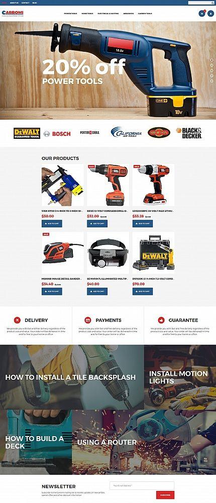 CARROMI - #tools  & Equipment #responsive  MotoCMS #ecommerce  #template