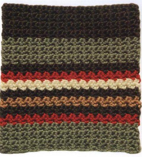 Patron #1305: Rayas con Textura a Crochet | CTejidas [Crochet y Dos Agujas]