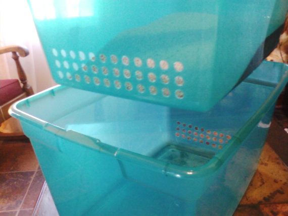 DIY side-sifting cat litter box
