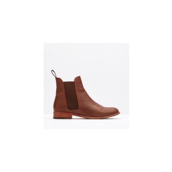Joules Belgravia Brown Chelsea Boots ($185) ❤ liked on Polyvore featuring shoes, boots, ankle booties, joules boots, genuine leather boots, chelsea bootie, leather booties and beatle boots