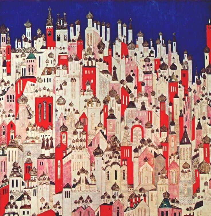 Наталья Сергеевна Гончарова. Окончательный дизайн задника к балету «Жар-птица» Игоря Стравинского 1926