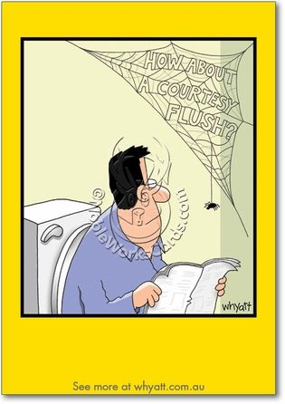 The writing is on the wall: Have a happy birthday!  http://www.nobleworkscards.com/8289-adult-humor-birthday-greeting-card-courtesy-flush-whyatt.html