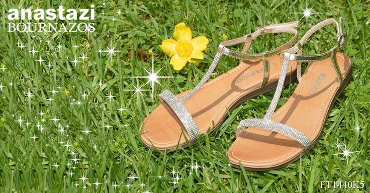 "Put a ""sparkle"" in your step for the Summer! (Article: FT-1440K5) Κοσμημα για χαρουμενα καλοκαιρινα ποδια! (Σχεδιο: FT-1440K5)"