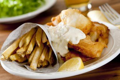 Beer Battered Fish and Chips - nicolebranan/E+/Getty Images