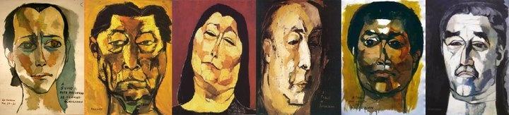 Silvio, Yupanqui, Sosa, Neruda, Pablo y García Márquez by Guayasamin