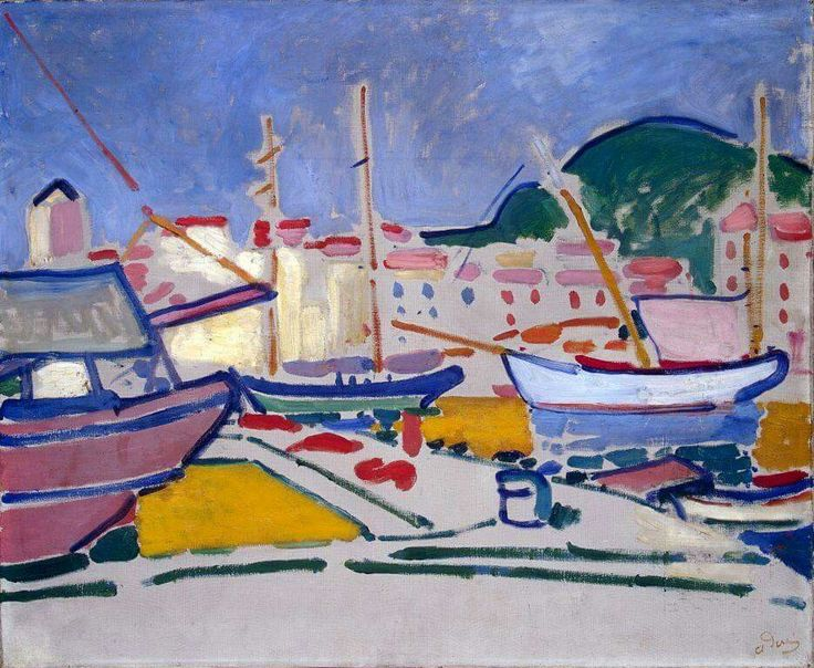 André Derain - Port, c.1905. Oil on canvas, 62 x 73 cm. The State Hermitage Museum, St. Petersburg, Russia