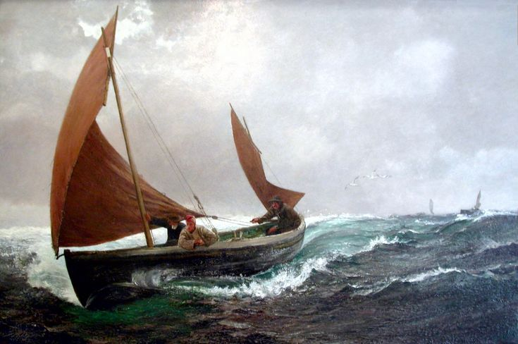 "Charles Napier Hemy RA,""Running for Home"""