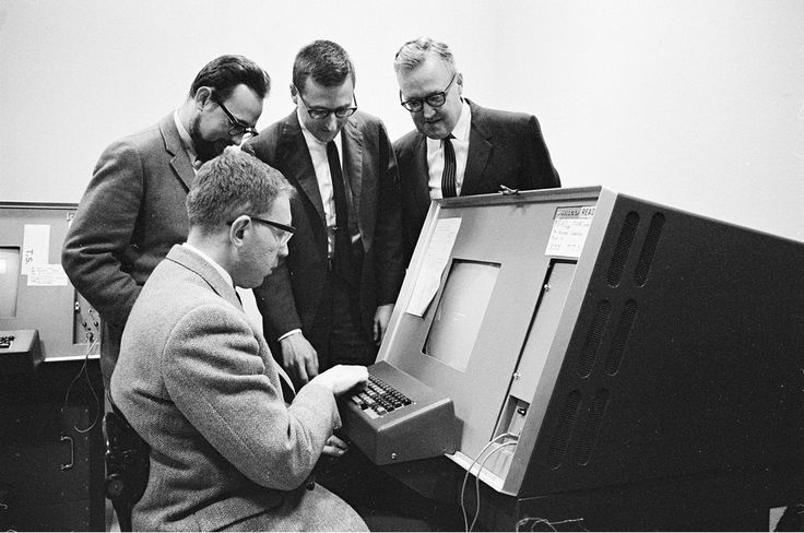 """Edward A. Feigenbaum, director of the Computation Center, pictured Jan. 24, 1966. Photo: Chuck Painter 