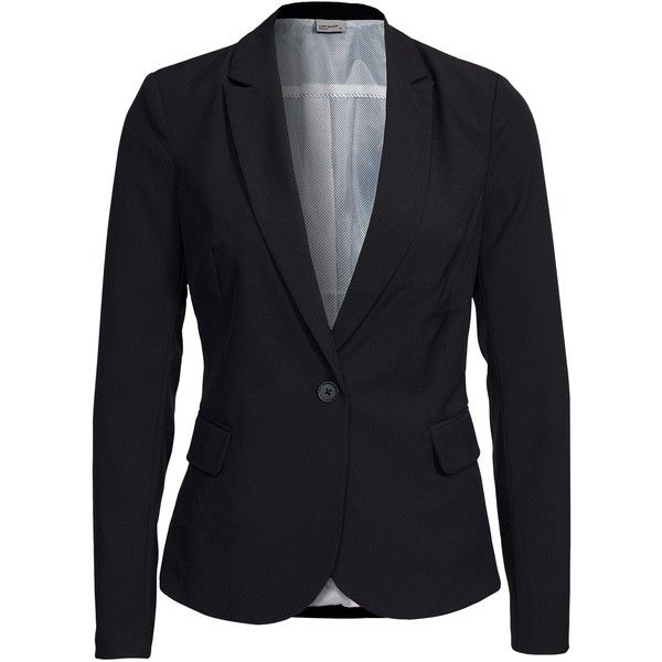 Vero Moda Vmroro Ls Blazer Noos found on Polyvore featuring outerwear, jackets, blazers, black, suit jackets & blazers, womens-fashion, tall jacket, vero moda, vero moda jacket and black blazer