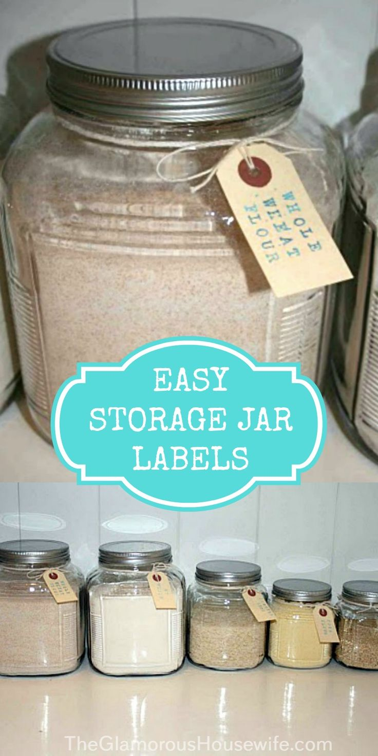 These easy storage jar labels are way better than the ridiculously difficult project I originally attempted. Click through to see a funny craft fail and then how I salvaged the project!