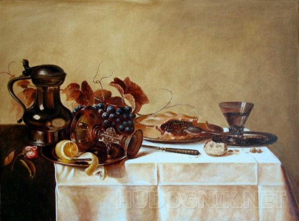"Завтрак копия с работы ""Завтрак""  Виллем Клас Хеда"
