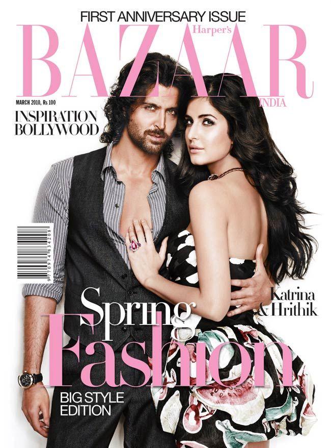 Katrina Kaif and Hrithik Roshan on Harper's Bazaar
