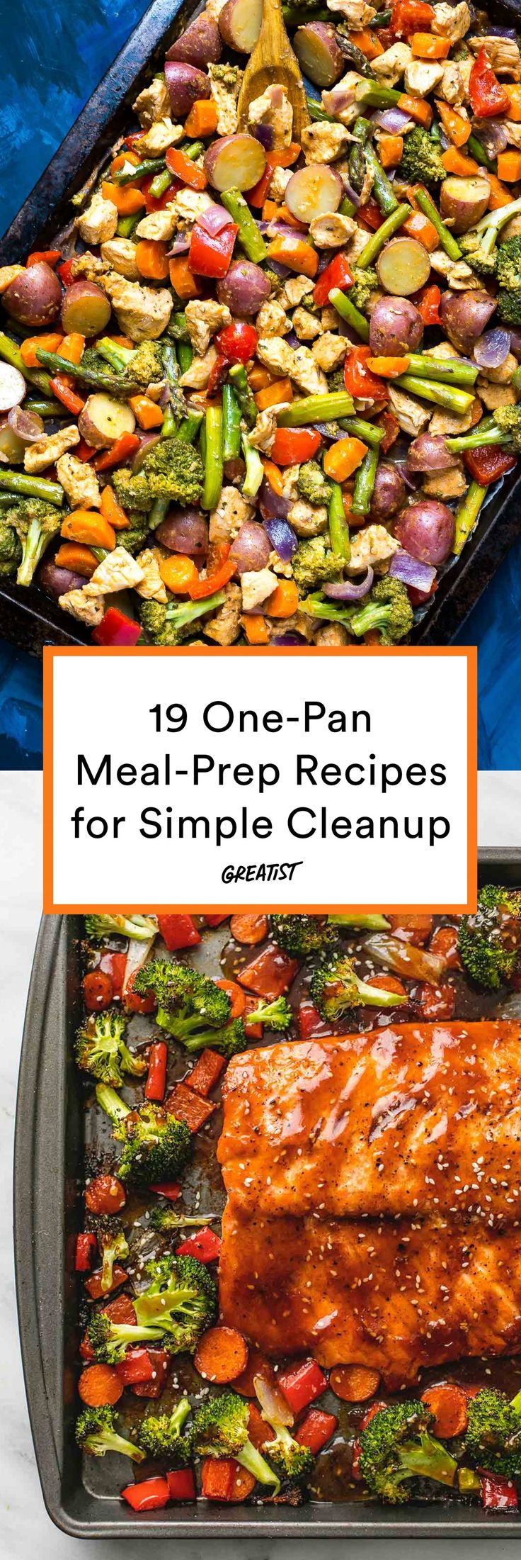 Keepin' cleanup simple since 2017. #greatist https://greatist.com/eat/one-pan-meal-prep-recipes