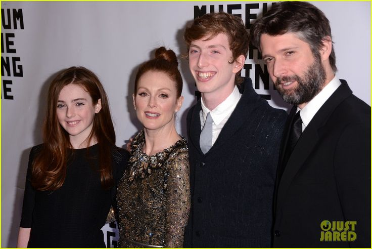 Julianne Moore was honored at the event, was joined by her daughter Liv, son Caleb, and Bart Freundlich.  @Museum of The Moving Image