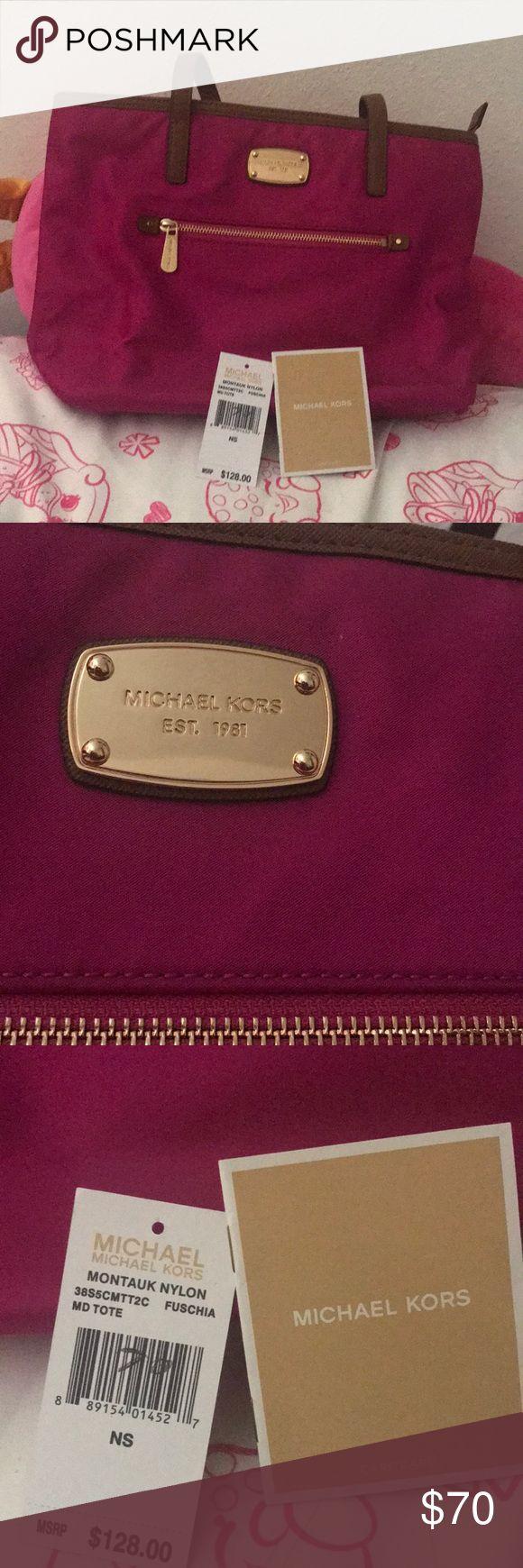Michael kors medium tote - fuschia Brand new with tags, Michael Kors Montauk nylon medium tote Michael Kors Bags Shoulder Bags