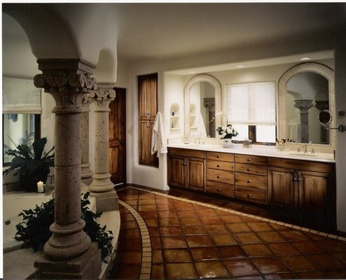 A Tuscan Style Bathroom Villa With All The Trimmings Decorating Ideas Design Ideas
