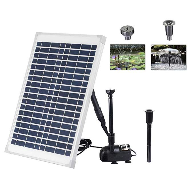 Amazon Com Xxk Solar Fountain Water Pump Kit 10w Solar Panel Submersible Powered Pump For Small Pond Garden Decoration With Images Solar Powered Fountain Solar Fountain