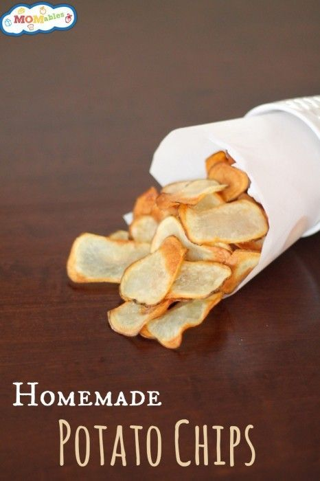 Want a recipe for Homemade Potato Chips? Then this is perfect for you! No more store bought bags with unnatural ingredients!