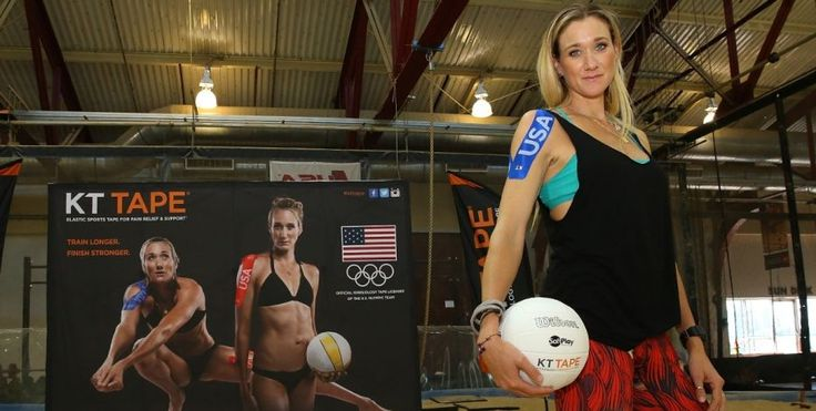 Beach volleyball star and three-time Olympic gold medalist Kerri Walsh Jennings endorses KT Tape, which has emerged as a big Olympic sponsor heading into the Rio games. Athletes are always looking for new innovations that make their days a little less painful. Enter KT Tape, which has developed close ties with Team USA and Olympic athletes heading into the 2016 Summer Olympics.| KT Tape Benelux