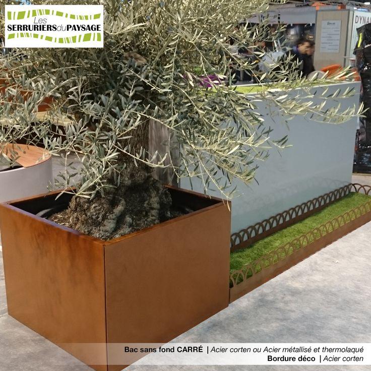 Bac sans fond acier corten et bordure de jardin d co deb for Bordure de jardin en palette