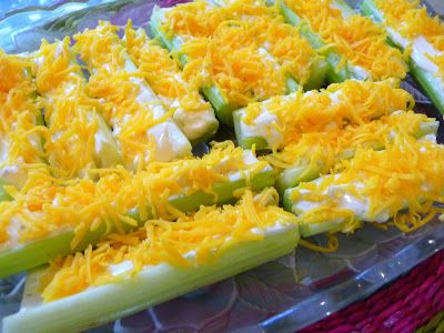 """SPLENDID LOW-CARBING BY JENNIFER ELOFF: STUFFED CELERY STICKS - Great snack or appetizer for those missing """"crunch"""" in their diet. Visit us at:https://www.facebook.com/LowCarbingAmongFriends"""