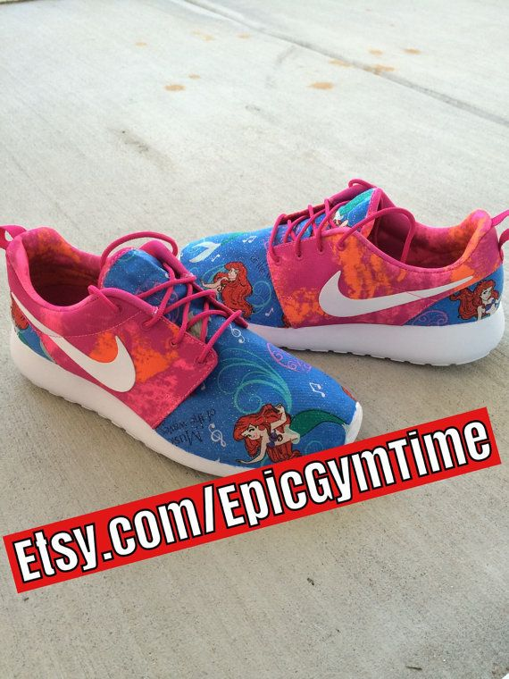Ariel's The Little Mermaid Disney Nike Roshe by EpicGymTime