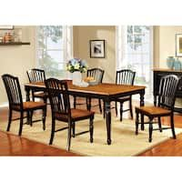 Furniture of America Levole Two-tone Country Style 18-inch leaf Dining Table