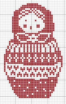 Matryoshka Doll Cross Stitch