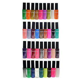 KurtzyTM Lot de 36 Vernis à Ongles de Qualité pour Nail Art aux Couleurs Variées