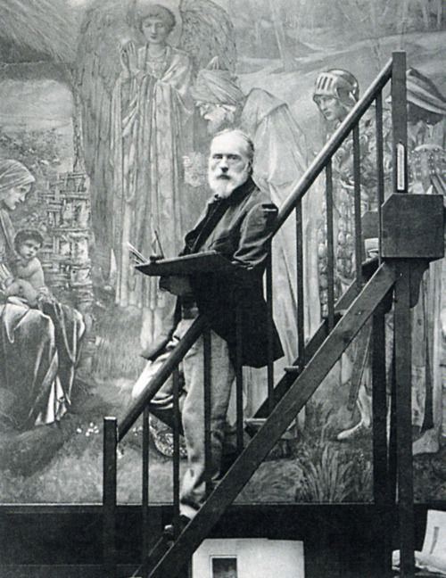 Sir Edward Burne-Jones (1833-1898) was a British artist and designer closely associated with the later phase of the Pre-Raphaelite movement, who worked closely with William Morris on a wide range of decorative arts as a founding partner in Morris, Marshall, Faulkner, and Company.