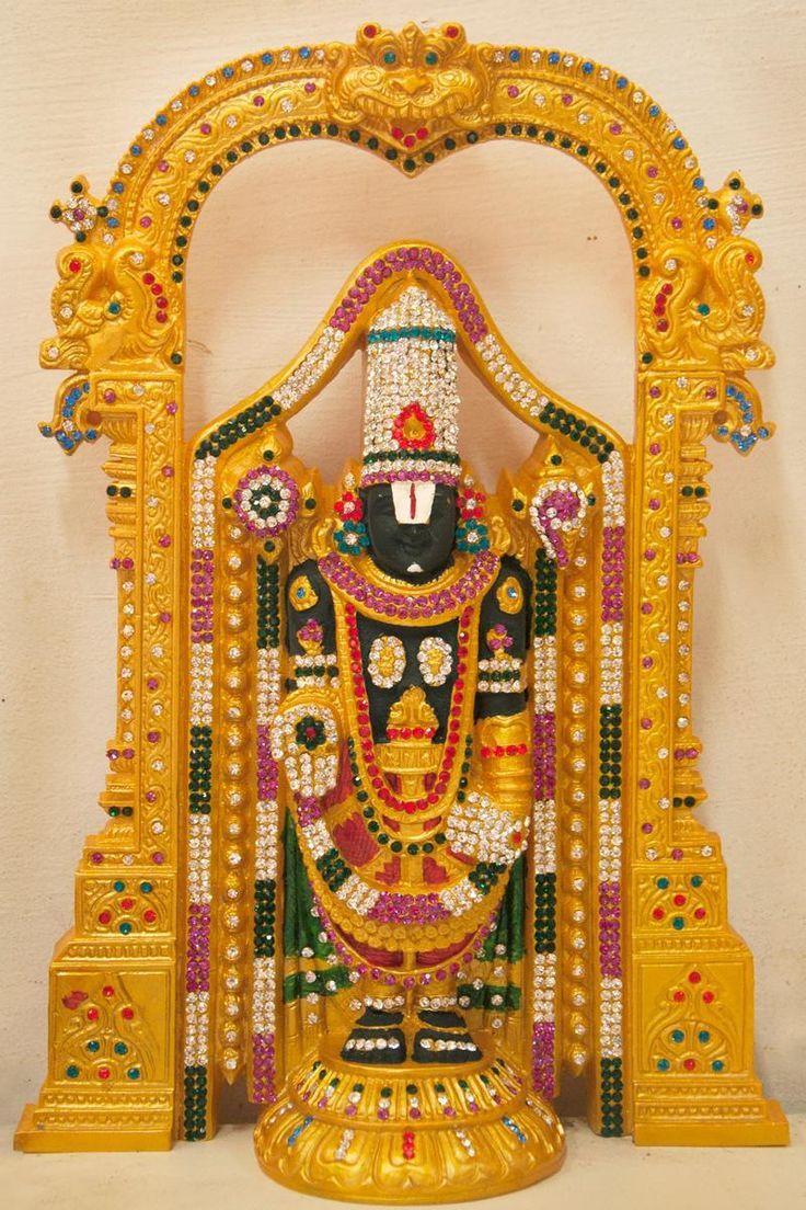 Stone studded idol of Lord Venkateswara.