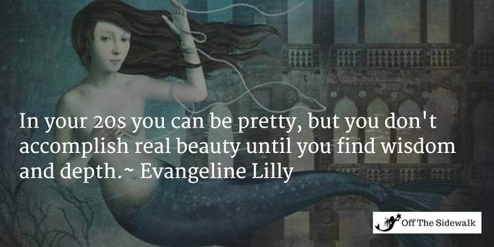 Evangeline Lilly quote about Women art by Christian Schloe from www.offthesidewalk.com