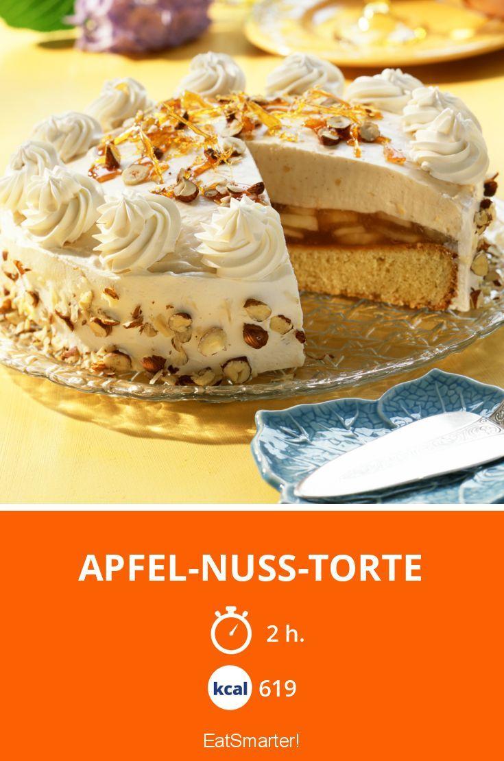 Apfel Nuss Torte Recept Deserty Pinterest