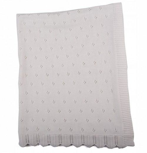 Beautiful layette knitted blankets available in white.Size: 78cm x 100cm #littlelumps #baby #southafrica