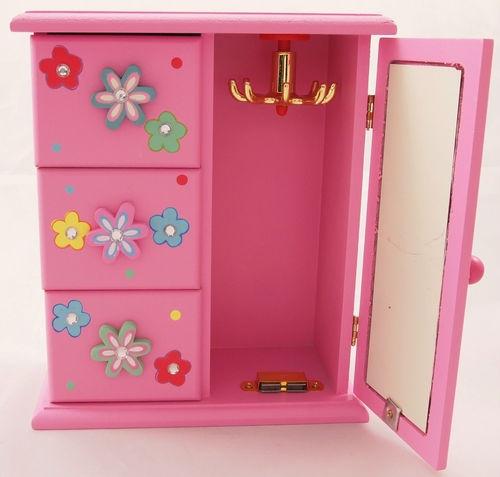 Pink girls jewellery box toy, trinket Mirror great gift idea