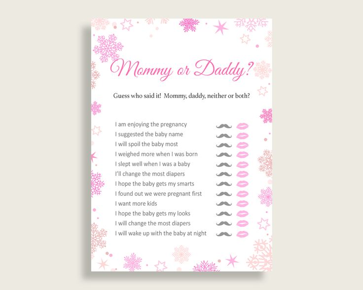 Mommy Or Daddy Baby Shower Mommy Or Daddy Winter Baby Shower Mommy Or Daddy Baby Shower Girl Mommy Or Daddy Pink White party décor 74RVX #babyshowerparty #babyshowerinvites