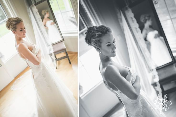 Beautiful moment in the morning of her wedding!