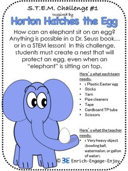 3 STEM Challenges for Read Across America Day Inspired by Seuss