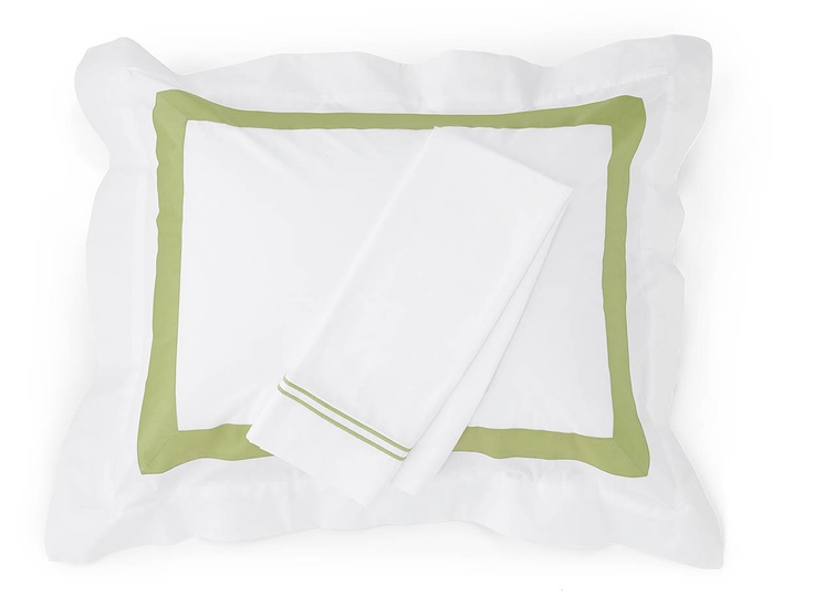 Brighten up your bed with Orlo and Grande Hotel bedding in Chartreuse.